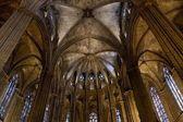 バルセロナのサンタ エウラリア大聖堂の内部 — ストック写真