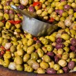 Stock Photo: Different colourful olives in barrel