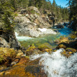 Stock Photo: Fast river in mountains