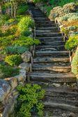 古い木製の階段屋外 — ストック写真