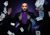 Handsome magician — Stock Photo