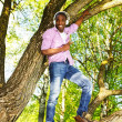 Young black guy in park — Stock Photo #26310165
