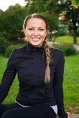 Sporty girl outdoors — Stock fotografie
