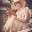 Stockfoto: Woman reading book