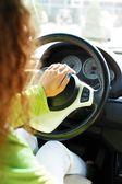 Mulher no carro — Foto Stock