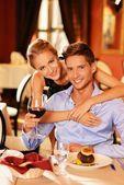People in restaurant — Stock Photo