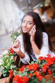Mujer llamando — Foto de Stock