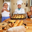 Children making pastry — Stock Photo
