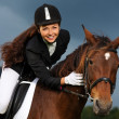 Woman with horse — Stock Photo #32175431