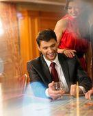 Människor i casino — Stockfoto