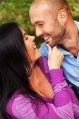 Happy smiling middle-aged couple outdoors — Stock Photo