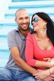 Middle-aged couple on a beach — Stock Photo