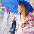 Girl with umbrella — Foto Stock