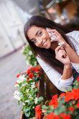Young girl calling — Stock Photo