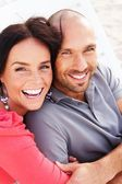 Middle-aged couple outdoors — Stock Photo