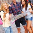 Happy young tourists — Stock Photo #33350693
