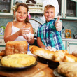 Children cooking — Stock Photo