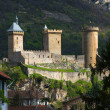 Old castle in Foix town in France  — Stock Photo