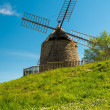Old windmill on a beautiful flower hill — Stock Photo #36570925