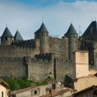 Medieval Carcassone town view, France — Stock Photo