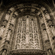 Decoration of entrance to Albi Cathedral, France — Stockfoto