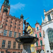 Neptune's Fountain in Gdansk, Poland — Stok fotoğraf