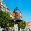 Neptune's Fountain in Gdansk, Poland — ストック写真