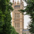 Westminster abbey tower  in London, England — Stok fotoğraf