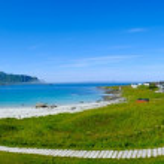 Beautiful sandy beach panorama on Lofoten islands, Norway — Stock Photo #36578635