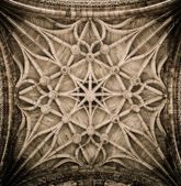 Celling decoration of Albi Cathedral, France — Stock Photo