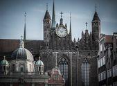 Widok na katedrę w mieście gdańsk, polska — Zdjęcie stockowe