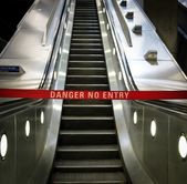 Escalator out of order — Stockfoto