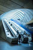 People on an escalator — Stock Photo