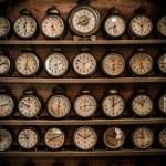Vintage alarm clocks — Stock Photo