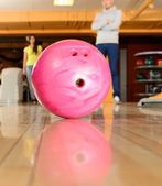 Ball on a bowling alley — Stock Photo
