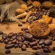 Stock Photo: Coffee theme still-life on wooden table