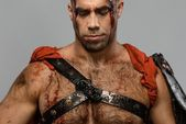 Wounded gladiator close-up — Stock Photo