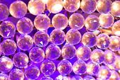 Colourful crystal balls background — Stock Photo