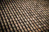 Staré střešní dlaždice detail — Stock fotografie