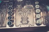 Vintage cash register close-up — Foto de Stock