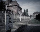 元ナチス濃度電気柵キャンプ auschwitz i、ポーランド — ストック写真