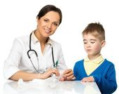 Little boy visiting paediatrician office — Stock Photo