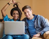 Students couple preparing for exams — Stock Photo