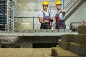 Worker and foreman  on  factory — Stock Photo