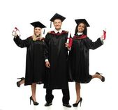 Graduated young students — Photo