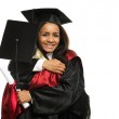 Happy graduated young students girls hugging — Stock Photo #45808819