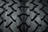 Close-up shot of classical motorcycle tire tread — Stock Photo