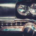 Ret rod style american car facia — Stock Photo