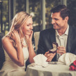 Man holding box with ring making propose to his girlfriend — ストック写真 #50513997