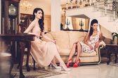 Women in luxury house — Stock Photo